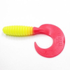 Твистер YAMAN Spiral, р.3,5 inch, цвет # 06 - Chartreuse red tail (уп. 10 шт.)
